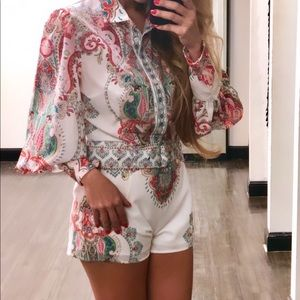 Shirt paired with shorts